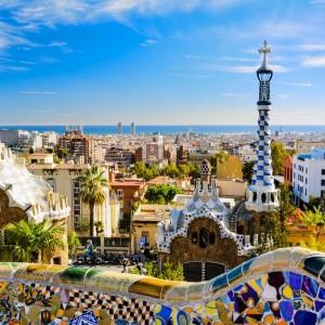 Espagne – Barcelone Parc Guell © Mapics